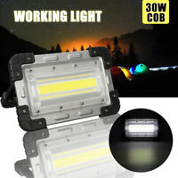 30W LED Portable Rechargeable Flood Spot Light Work Camping Outdoor Lamp  CA