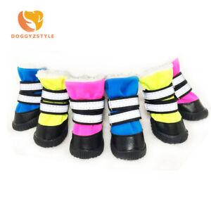 4pc/set Pet Dog shoes Winter Warm Anti-slip Waterproof Snow Boots Puppy Cat Shoe