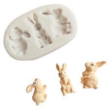 Rabbit silicone fondant mold bunny chocolate gumpaste mold cake decorating_S
