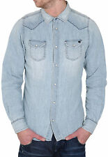 DIESEL SONORA 0HAAF DENIM SHIRT SIZE L 100% AUTHENTIC