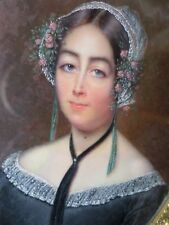 Jeanne Alexandre MARICOT (1789-c.1850)-Peinture Miniature-Portrait femme
