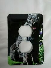 Dog Outlet Wall Plate Cover Room Home Decor bouvier des flandres. Big black dog