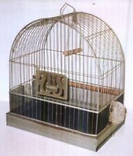 Vintage Hendryx Bird Parakeet Canary Cage 1950's with Glass Feeders