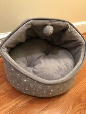 Whiskers & Co Cat or Dog Covered Bed Hood Microfleece Lining Foam Filled Pet