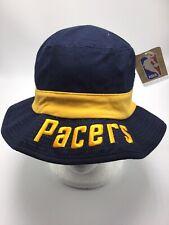 c0755955 NBA Indiana Pacers Adidas Men's Blue/Yellow Bucket Hat Size SMALL/ MEDIUM