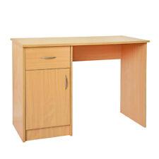 Beech Computer Table PC Study Laptop Desk Normal Type Storage 1 Drawer Door