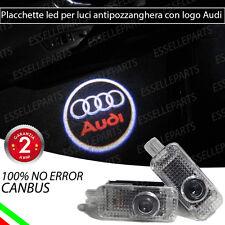 COPPIA PLACCHETTE LOGO AUDI PORTIERE ANTIPOZZANGHERA LED CANBUS AUDI A4 B8