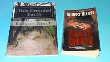 Robert Bloch lot of 2 Paperback Books Night-World & This Crowded Earth / Horror
