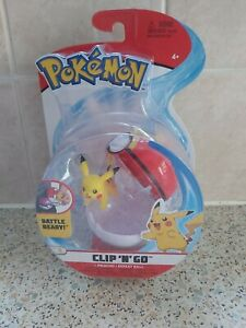 Pokemon Clip N Go Pikachu +Repeat Ball Battle Ready Brand New Sealed