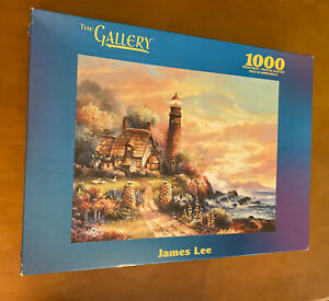MB Puzzle 1000 Piece Puzzle Called Evening Light by James Lee (Damaged Box)
