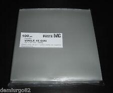 BUSTE PROTETTIVE musica DISCHI VINILE 45 giri - 100my POLIPROPILENE - 187x187 mm