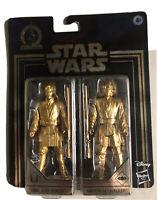"""Star Wars Skywalker Saga Obi-Wan Kenobi & Anakin Skywalker 3.75"""" Gold Figure MOC"""