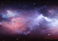 Amazing Purple Nebula Poster Size A4 / A3 Galaxy Outer Space Poster Gift #13289