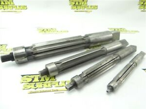 """LOT OF 4 HSS HAND EXPANSION REAMERS 5/8"""" TO 1-3/8"""" DIA CLEVELAND STANDARD"""