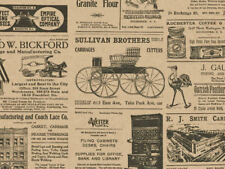 "Antique Newspaper Ads Kraft Tissue Paper 20x30"" 240 Sheets Vintage Crafts Gifts"
