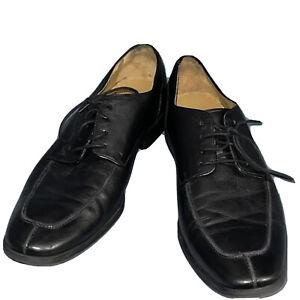 COLE HAAN Mens Dress Shoes Classic Black Leather Lace Up Cap Toe Oxford Sz 11.5M