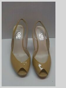 """Michael Kors Collection """"Vivian""""  Slingback Patent Leather Open Toe Wedge 10M"""