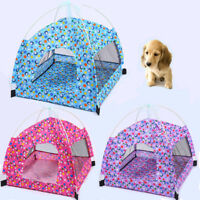 Dog Tent Indoor Outdoor House Portable Breathable Mesh Bed Pet Cat Kennel Teepee