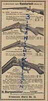 KREIENSEN/HARZ, Werbung 1903, H. Burgsmüller Gewehr-Fabrik Fein-Büchsen-Macherei