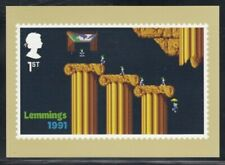Great Britain Lemmings 1991 Video Games Royal Mail Stamp Card