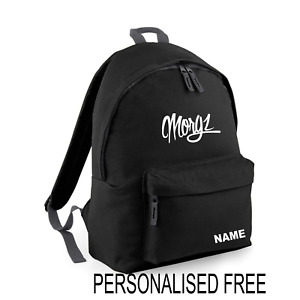 MORGZ Youth kids gym school backpack YOUTUBE IN MSPIREDERCH PERSONALISED FREE