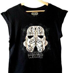 Star Wars Storm Trooper Size 12 Sleeveless  Black T Shirt