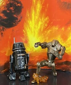 """Star Wars Droids R5-J2 From Comm/Tin & Super Battle Droid Comic Pack Loose 3.75"""""""