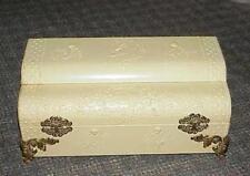 Antique Victorian CELLULOID Embossed Cherubs DRESSER Vanity Box Valentines