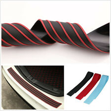 35.8 Inch Black&Red Autos Off-Road Rear Bumper Rubber Protector Strip Guard Pad