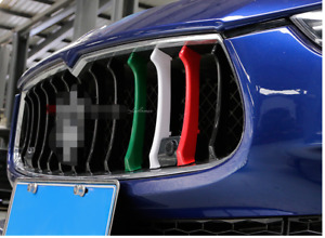 for Maserati Ghibli 2014 - 2016 Three Color Front Grille Cover Trim Molding 3pcs