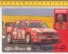 GIORGIO FRANCIA - ALFA ROMEO 1994 Rally di Monza cartolina autografata originale