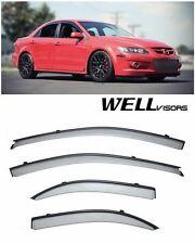 For 03-08 Mazda 6 Sedan WellVisors Side Window Deflector Visors With Black Trim