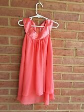 Kids Dream USA Coral A Line Chiffon Sleeveless Dress Party Occasion 5- 6 years