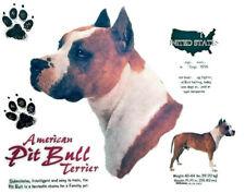Pit Bull Dog History T-Shirt New