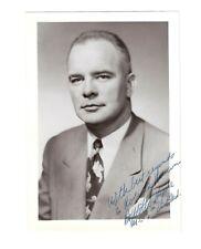 DeWITT S HYDE Signed Autograph Photo 1950s US Congressman MD 6th & DC Judge vtg