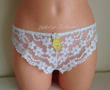 La Senza Sexy beautiful White Lullaby Lace Brazilian short UK Size 18 Free P&P
