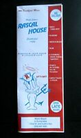Rascal House Wolfie Cohen Take out MENU Restaurant Miami Fl Florida Reprint