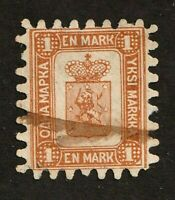Finland stamp #11a, used, roulette type 2, 1866-74, very crisp, SCV $1700