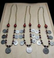 "BULK lot of 3 Kuchi Coin Chokers Boho Tribal Jewelry 19"""