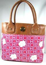 Tommy Hilfiger TH Signature Floral Small Tote Handbag Bag Pink/White Ladies NWT