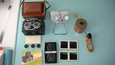 SPUTNIK Bakelite Russian Stereo Film Camera + EXTRA STEREO COMPLECT BOX & FRAME