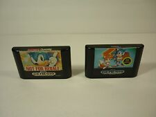SONIC THE HEDGEHOG 1 & 2 - Sega Genesis - Game Lot Bundle - TESTED - !!!