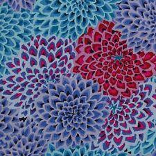 Rowan Kaffe Fassett Dahlia Blooms Cotton Fabric GP54 Cool, Limited Edition BTY