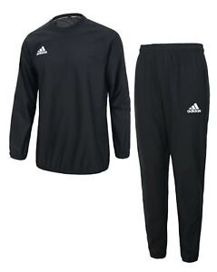 Adidas Men Sauna Suit Set Training Black Sports Running GYM Jacket Pant ADISS02B