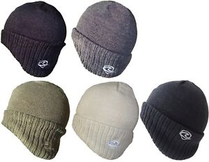 Mens German Style Beanies Winter Hat Warm Wollen Cap Ski Hats Fully Lined