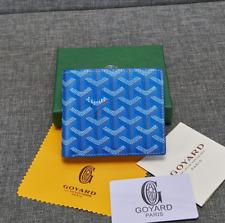 Maison Goyard Porte Feuille Blue Mustard Bi-Fold Wallet