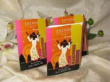 Escada Rockin' Rio.Limited Edition. Eau de Toilette .06 fl oz./ 2 ml Lot of 3.