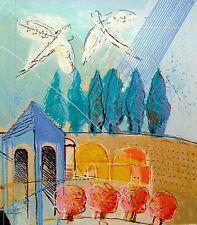 "CALMAN SHEMI ""JERUSALEM 3"" Hand Signed Limited Edition Serigraph Art"