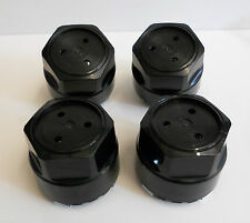 82-92 NEW SET OF 4 FIREBIRD TRANS AM TA GTA FORMULA CENTER CAPS BLACK BLANK