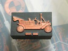 1908 Ford Printers Block              Vintage Letter Press